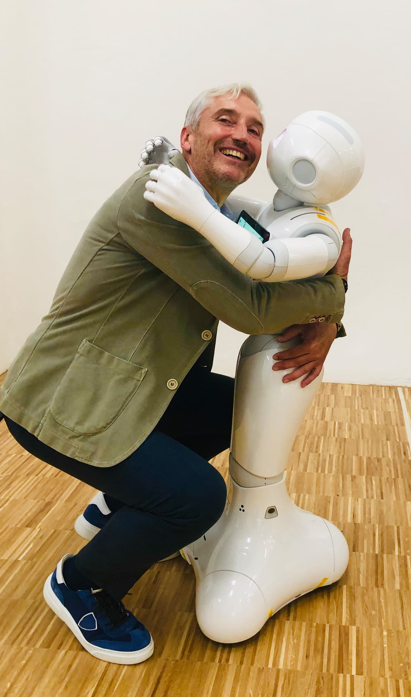 Verabschiedung von Roboter Pepper